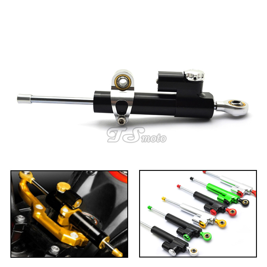 for CNC Damper Steering StabilizerLinear Reversed Safety Control Over for yamaha mt-09 tracer ktm exc katana road king handlebar