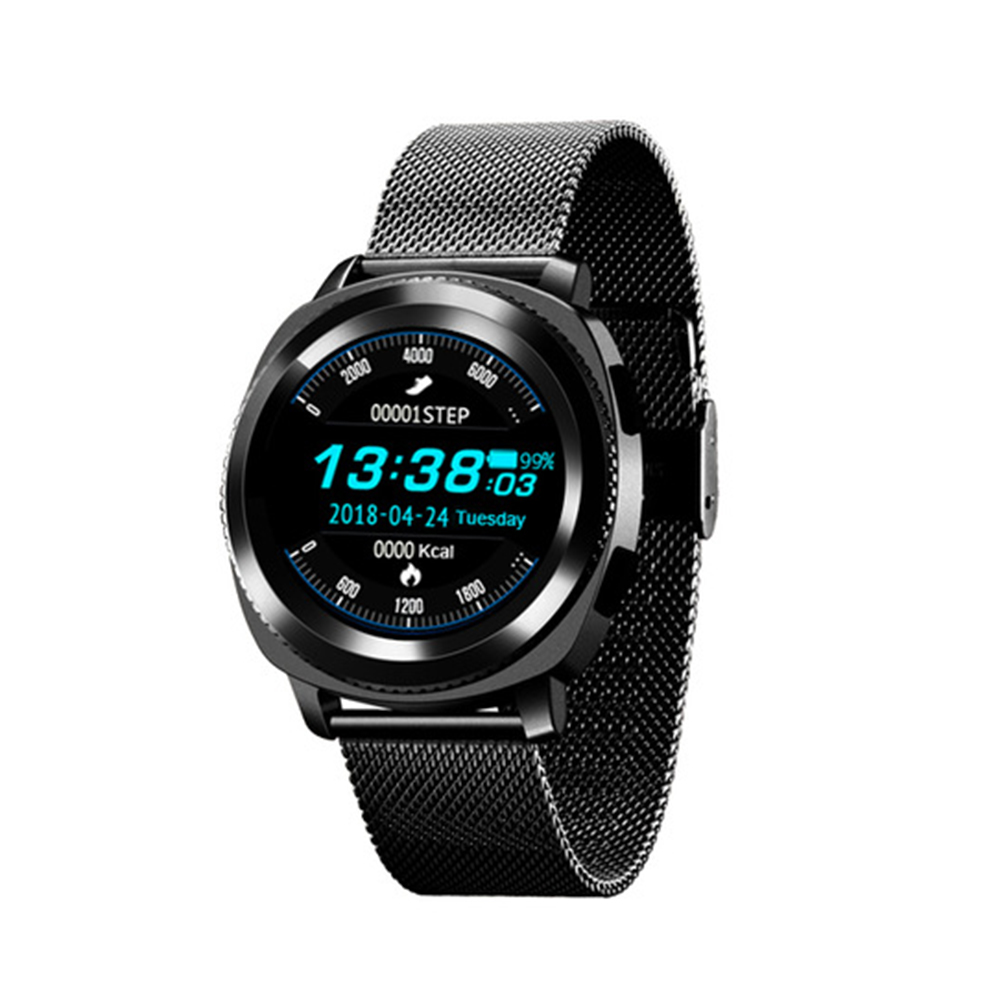 L2 mode sport Bluetooth montre intelligente étanche IP68 Fitness Tracker sommeil moniteur de fréquence cardiaque maille Bracelet Smartwatch Bracelet