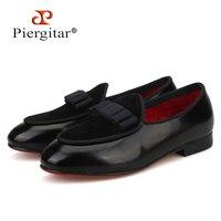 Piergitar/Новинка 2019 года, стильные кожаные лоферы ручной работы для родителей и детей вечерние обувь для вечеринки и свадьбы, детская обувь с ба