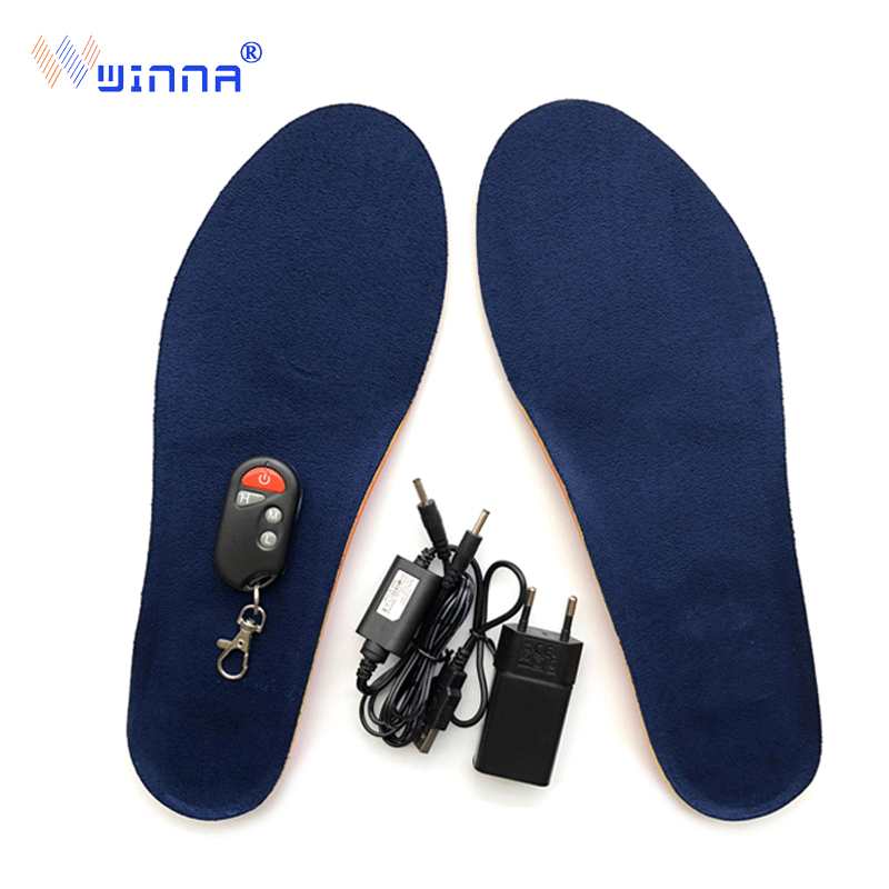 New USB charging heating insoles for winter outdoor ski insoles for men and women Camping and hiking to keep feet warm