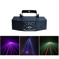 3 Lens RGB Full Color Scan Beam Line Pattern Laser Lights DMX Sound AUTO DJ Party Home Show Bar Club Stage Lighting Effect H 3/P