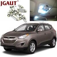 JGAUT White Car LED Light Bulbs Interior Package Kit For 2005 2009 Hyundai Tucson Map Dome