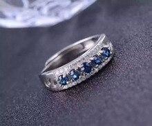 Natural sapphire gem Ring Natural gemstone ring 925 sterling silver trendy Elegant Crude arrangement women girl gift Jewelry