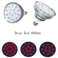 Deep Red 660nm Rosną Światła 54 W 45 W 36 W 27 W 21 W E27 Par38 Żarówka LED Rosną Światła Roślina Rośnie Lampy dla Foweing Blooming