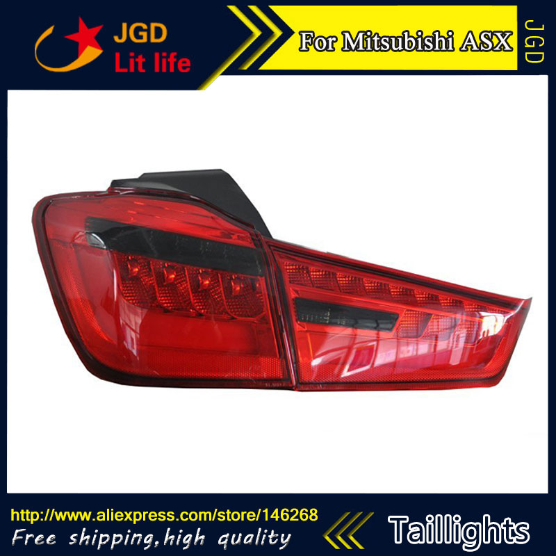 Car Styling tail lights for Mitsubishi ASX 2013 LED Tail Lamp rear trunk lamp cover drl+signal+brake+reverse auto car led number license plate lights lamp bulb car styling xenon white for mitsubishi asx vehicles tail rear lamp