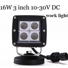 new arrival Truck Flush Mount10-30V 2X16W Cree LED work light lamp SPOT Beam  square  work light driving Lamp high power