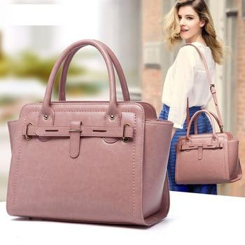 010718 new hot women leather handbag female fashion tote top-handles bag