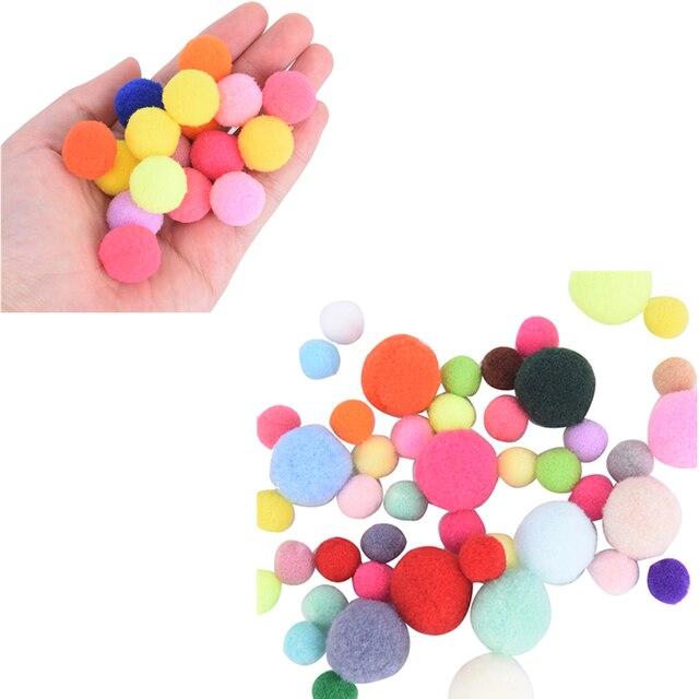 NEW 2019 DIY Crafts Colourful Mini Fluffy Pom Poms Ball Felt 10mm/20mm 100Pcs
