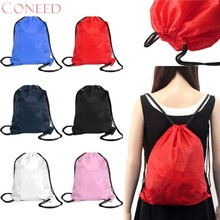 CONEED School Bags Fashion Charming Nice Nylon Drawstring Cinch Sack Beach Travel Oct16(China)