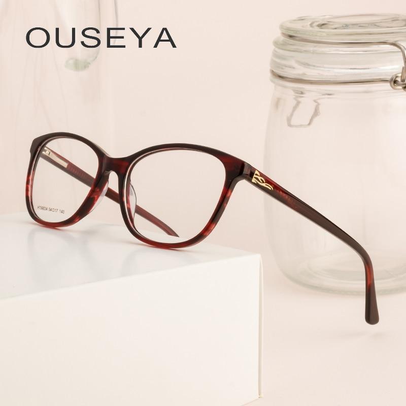 Acetat Frauen Brille Klar Rahmen Runde Nerd Übergroßen Klar Objektiv Retro Transparent Vintage Spektakel Rahmen # Ht99034 Stabile Konstruktion