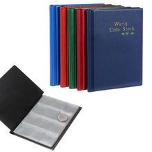 1PC Book Collecting Coin Holder 120 Coin Collection passport cover Storage Collecting Money Penny Pockets bag(China)