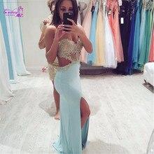Abendkleid 2016 Mit Appliques Weg Schulter Backless Sexy Meerjungfrau Abendkleid/Cocktailkleid/Abendkleid Vestido De Festa