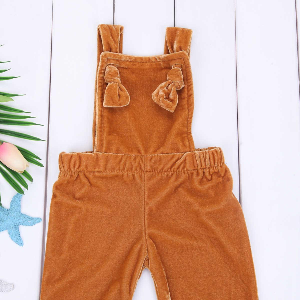 2018 nueva moda niñas traje bastante bebé niño niña terciopelo babero pantalones chico bebé Niñas Ropa