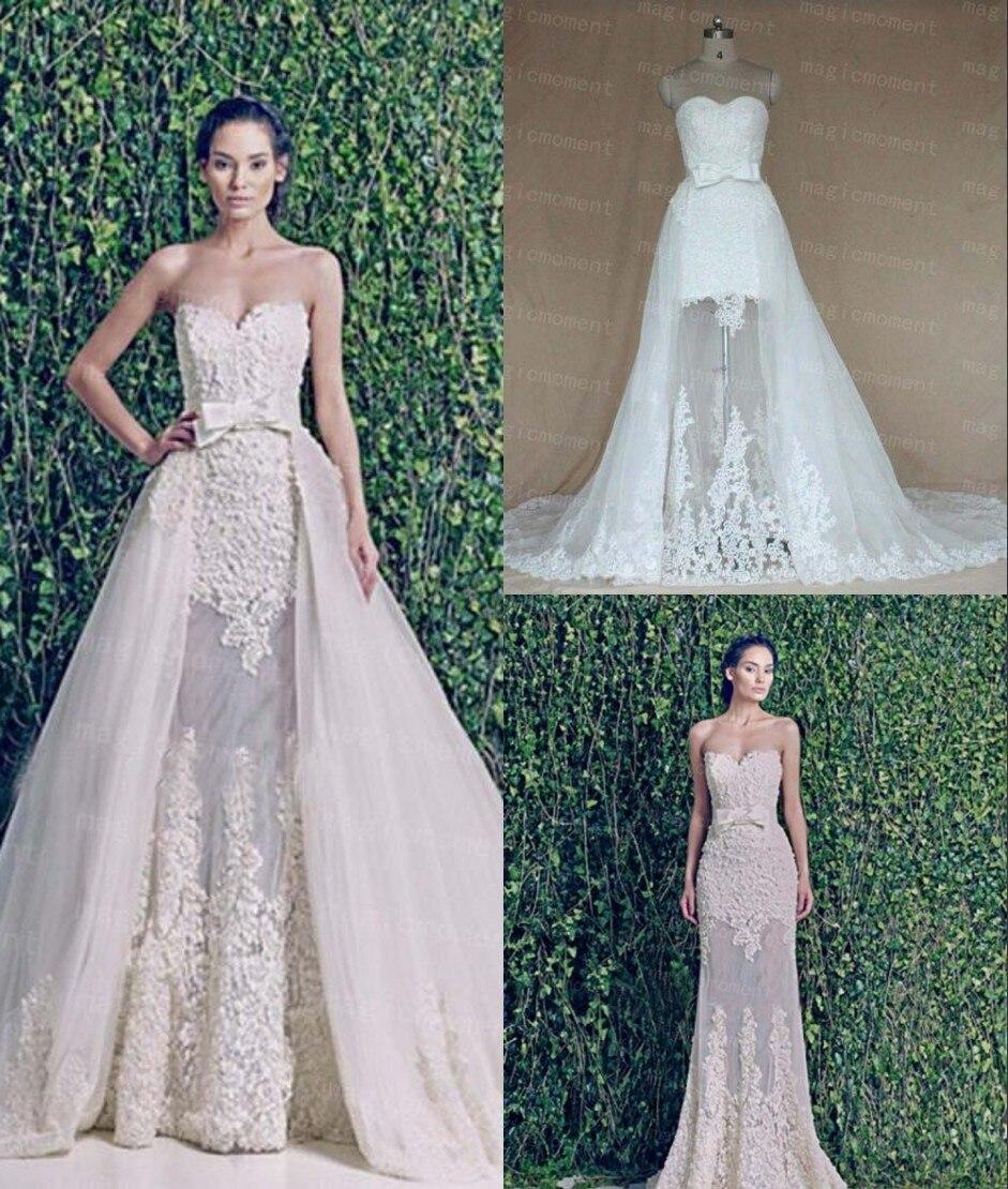 zuhair murad Two Piece Wedding Dress with Detachable Train Real ...