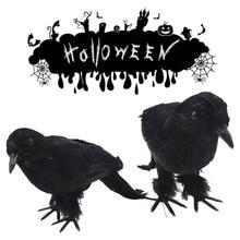 simulation black crow halloween decoration bachelorette party decoration halloween props craft supplies pool party supplies - Halloween Crow Decorations