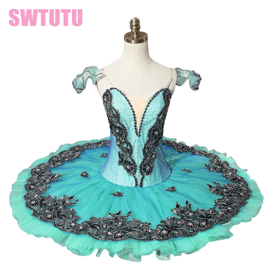 Adult green classical ballet tutu for competition,blue professional ballet tutus,red pancake tutu BT8973