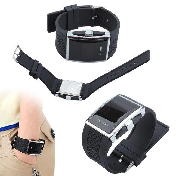 Hot Style Fashion Digital LED Wrist Watch Wristwatch Gifts Kid Boys Men Black LXH