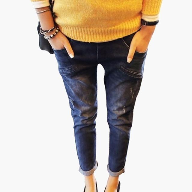 Mulheres Abdômen Up Skinny Jeans Calças Calças de maternidade Maternidade Roupas 3 Tamanho