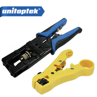 CCTV camera installation tool Compression Tool for F/BNC/RCA RG 58/59/62/6(3C/4C/5C) type and Cable Stripper tool kit