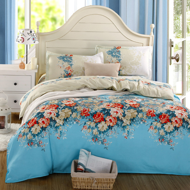 Cute Bedding Set 100% Diamond Velvet Print Bed Sheet Bed Linen 4pcs  Comforter Bedding Sets