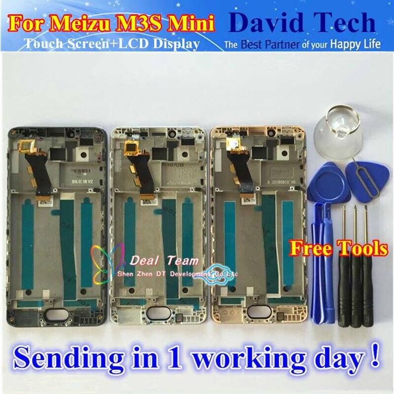 imágenes para De alta Calidad de Nueva Digitalizador de Pantalla Táctil + LCD de Repuesto para Meizu M3 mini 3 S Teléfono Móvil de 5.0 pulgadas Negro Blanco Con marco