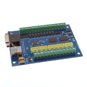 Image 3 - 5 osi CNC płyta sterownicza USB MACH3 tabliczka zaciskowa maszyny do grawerowania z MPG krokowy motion karta kontrolera