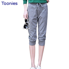 2018 New Fashion Summer Women Casual Harem Pants Female Women Slim Fit Pant Street Long Seven Short Capris Trouser with 4 Colors