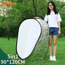"Godox 35 ""* 47"" 90x120 ס""מ 5 ב 1 נייד מתקפל אור סגלגל צילום רפלקטור לוח"