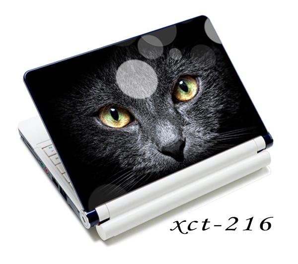 Black Cat Face 12 13 14 15 Laptop Netbook Decal Sticker Skin Protector Cover