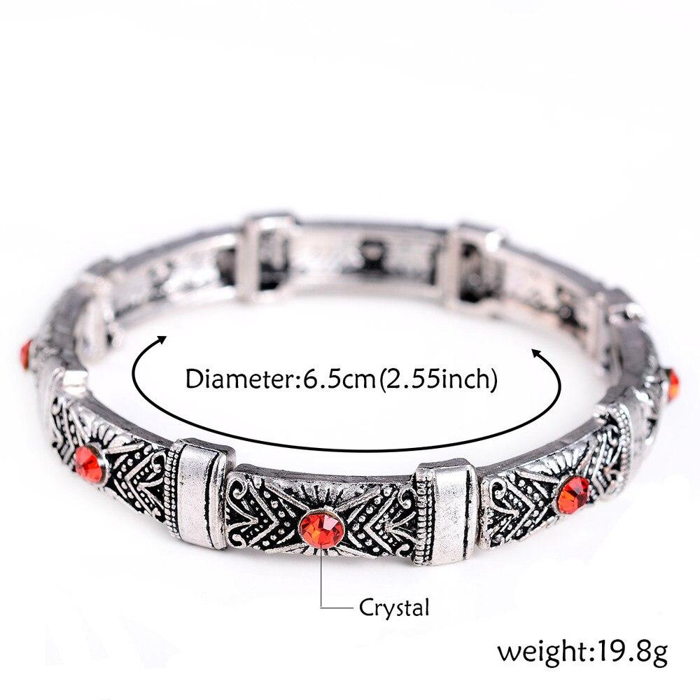 Natural Stone Tibetan Silver Bracelets