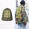 Otoño Invierno de la Temporada 3 Kanye West Yeezys Pablo Camuflaje Para Hombre Paul Delgada Capa de la Chaqueta de Hip Hop Streetwear Chaquetas Militares
