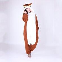 Флис ткань белка Kigurumi Косплэй костюм животного пижамы для взрослых  Бурундук Onesie Хэллоуин Карнавал Вечерние c04c50cf56a64