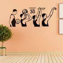 basketball superstar Stephen Curry shooting action vinyl wall decal home decor living room bedroom art wallpaper sticker
