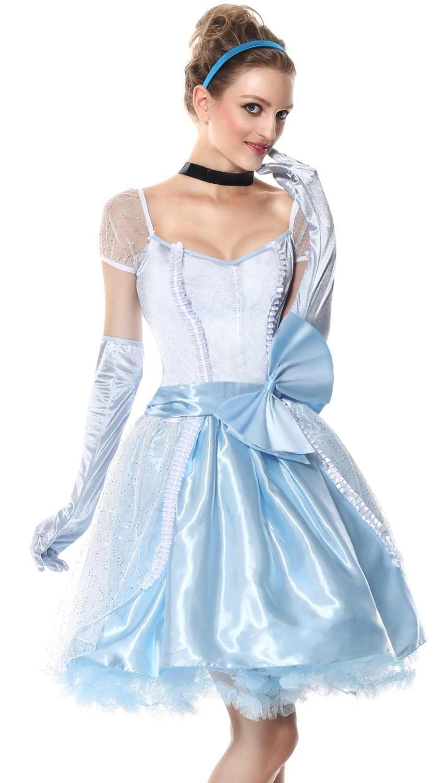 Vestido de Cenicienta Blancanieves disfraz de princesa adulto fantasías femeninas princesa Cosplay mujeres Sexy Halloween traje de juego de rol