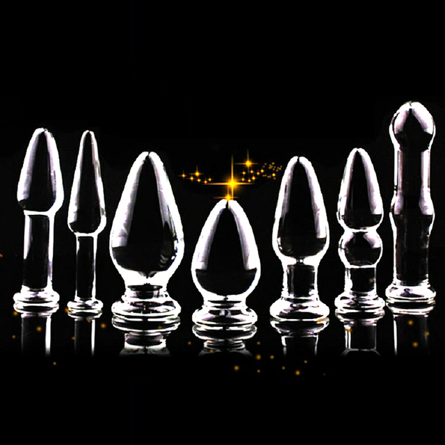erotic anal beads - 7 Type Glass Large Anal Plug Anal beads Erotic Toys Big Butt Plug Adult Sex  Toys