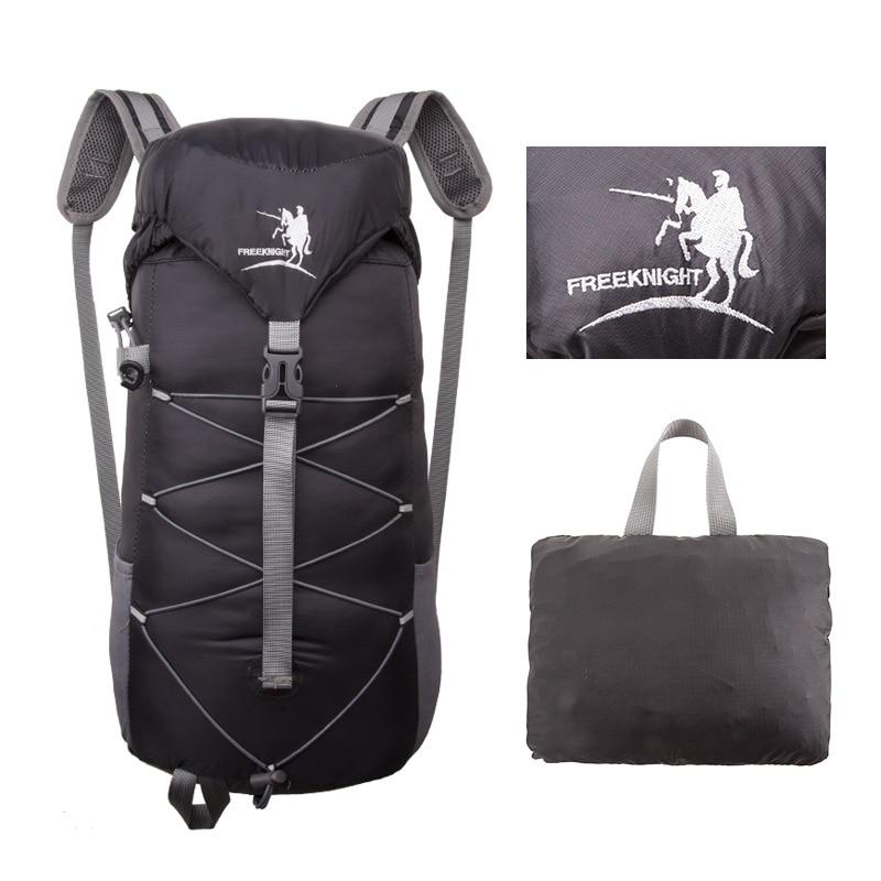 30L Unisex ultrakönnyű vízálló nylon kültéri összecsukható hátizsákok FreeKnight puha hegymászás és túrázás hátizsákok 5 színben sporttáskák