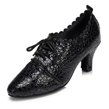 Latin dance shoes with leather and adult female dance ballroom dance shoes' modern dance shoes