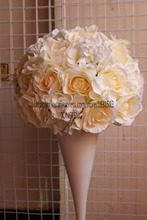 2017 New Hot 35cm 5pcs/lot Wedding Artificial Hydrangea Rose Road Lead  Flowers 2/3 Round Table Centerpiece Flower Ball TONGFENG Part 91