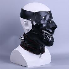 Tokyo Ghoul 2 Kaneki Ken Masks Zipper Adjustable Cosplay Cool PVC Masks Halloween Party Props