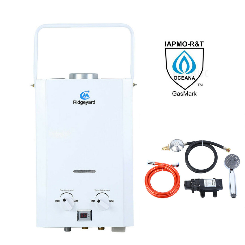 AU Local Shipping ! Portable 6L Propane LP Gas Instant Tankless Bath Hot Shower Water Heater Boiler