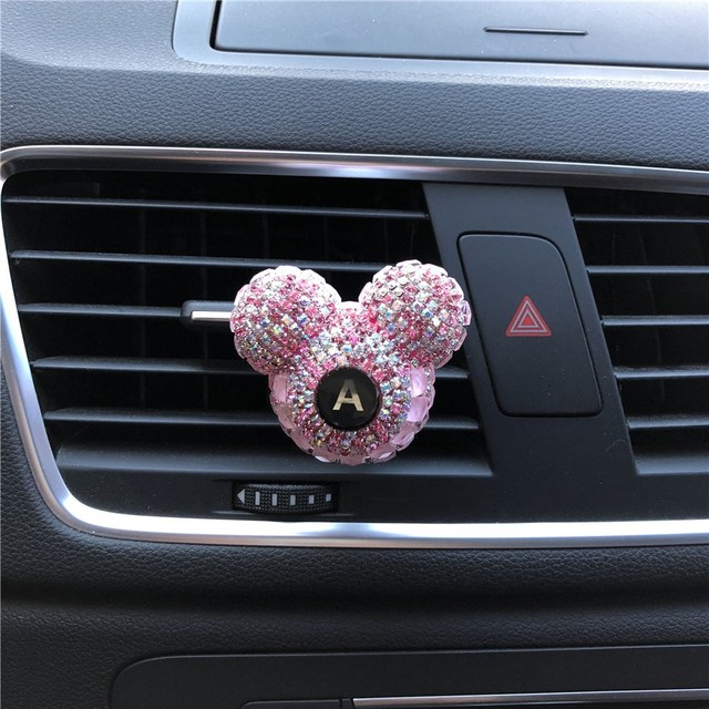 Rhinestone Perfume Exquisite Car Perfume Mounted Drilling Perfume Air Conditioner Car Air Freshener styling English letter