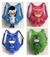 Anime pj enmascarado caracteres Catboy Owlette pjmask plush mochila figuras de acción juguetes regalo de cumpleaños