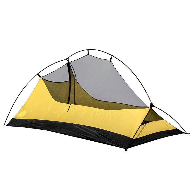 Les spiritueux gratuits TFS PANGOLIN2.0 revêtement en silicone unilatéral 2 personnes 3 saisons ultra léger imperméable Camping tente étiquette noire - 4