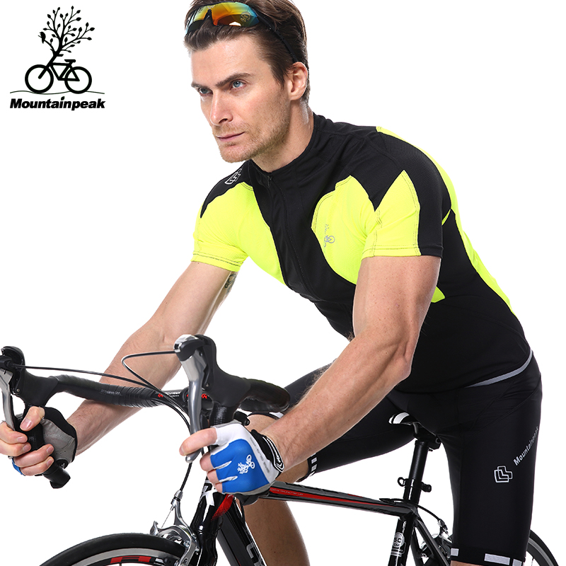 ФОТО Riding Suit Short Sleeved Summer 2017 Bicycle Pants Sets Mens Bike Bicycle Sports Triathlon Clothes Riding Clothing