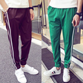 8 colors mens fashion casual pants tide male feet pants Korean comfort beam adolescent mens trousers size M-5XL