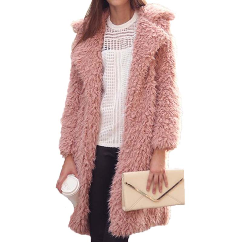 2018 Fashion Women Long Wool Blend Cardigan Overcoat