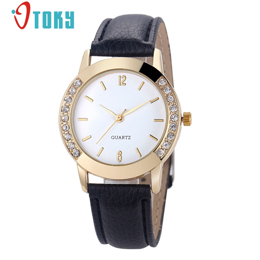 OTOKY Geneva Watch Women Dress Watches Analog Leather Quartz Women Ladies Rhinestone Wrist watches Gift 1pc