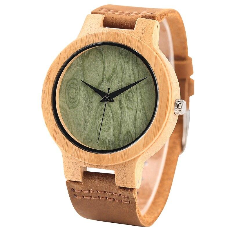 Fashion Wood Kellad Quartz meestele Naistele Ehtne Nahk Watchband - Meeste käekellad - Foto 1