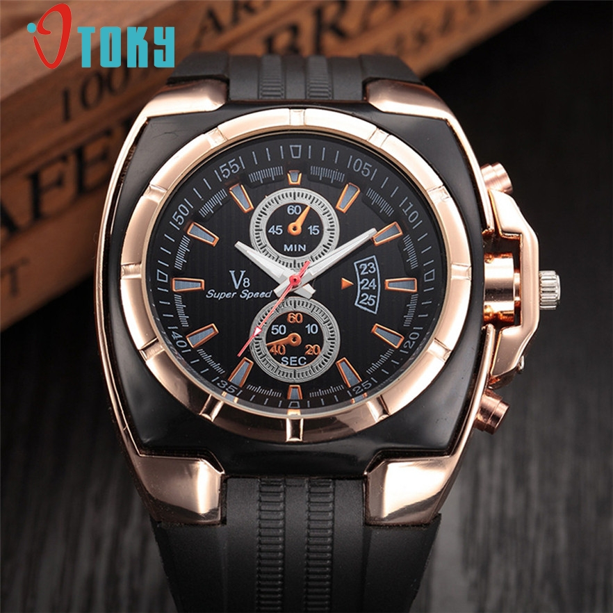OTOKY Men Watches fashion Luxury Brand Silica gel Clock Male Casual Sport Watch Men Thin Wrist Quartz sport Watch 2017 #20 Gift mens watch top luxury brand fashion hollow clock male casual sport wristwatch men pirate skull style quartz watch reloj homber