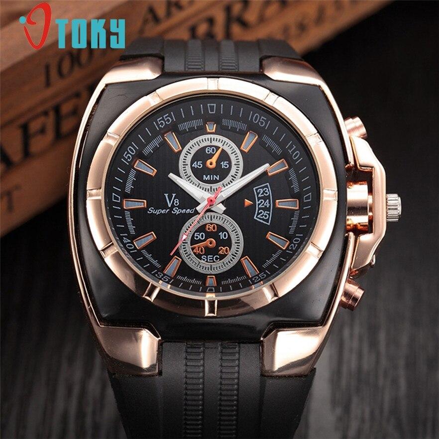 OTOKY Men Watches fashion Luxury Brand Silica gel Clock Male Casual Sport Watch Men Thin Wrist Quartz sport Watch 2017 #20 Gift